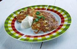 Kartoffelpfannkuchen Latkes Stockbilder