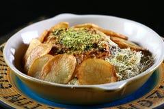 Kartoffelteller stockfotografie