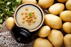 Kartoflana kremowa polewka Zdjęcie Royalty Free