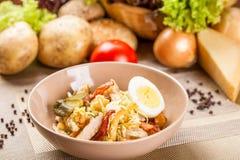Kartoflana sałatka z kurczakiem Obraz Royalty Free
