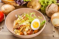 Kartoflana sałatka z kurczakiem Fotografia Royalty Free