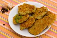 Kartoflani bliny z czosnkiem i pieprzem Fotografia Stock