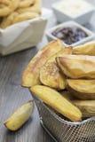 Kartoflani kliny Zdjęcie Royalty Free