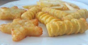 Kartoflani produkty na talerzu Obraz Stock