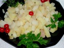 Kartoflani sześciany na talerzu Fotografia Stock