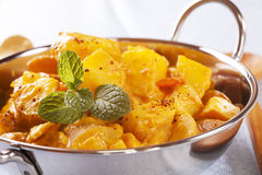 Kartoflany Bombay Curry obrazy stock