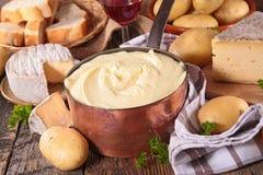 Kartoflany i serowy fondue Fotografia Stock