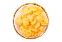 Kartoflany przekąska puchar na odgórnym widoku Zdjęcie Stock