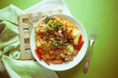 Kartoflany puree i mięso zdjęcia stock
