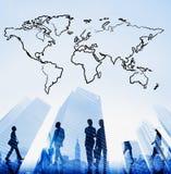 Kartografia związku ziemi Światowej mapy pojęcie obraz stock