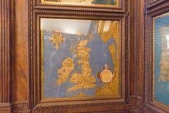 Kartografii mapa w Hall geographical mapy w Palazzo Vecchio, Florencja, Tuscany, Włochy Zdjęcia Stock