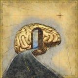 Kartografować umysł Obrazy Royalty Free
