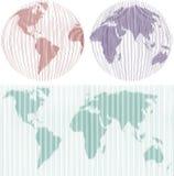 kartografuje świat Obrazy Stock