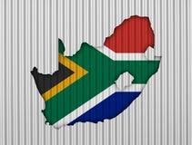 Kartografuje i flaga Południowa Afryka na panwiowym żelazie Obraz Royalty Free