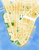 Kartografuje Manhattan, Miasto Nowy Jork, rysujący ręką royalty ilustracja