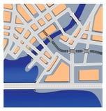 kartografuje miastowego Zdjęcie Royalty Free