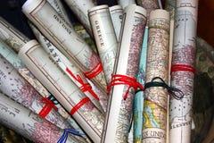 kartografuje starego świat zdjęcie stock