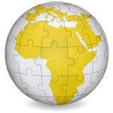 Kartographisches Puzzlespiel von Afrika Stockbild