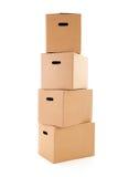 Kartonów pudełka Obrazy Royalty Free