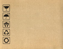 Kartonów symbole Obrazy Stock