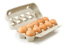 Karton Eier Stockfotografie