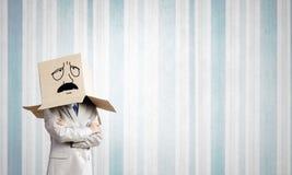 Karton głowa Fotografia Stock