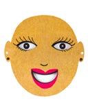 Karton maska Zdjęcie Stock