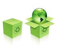 Karton milieubescherming Stock Foto