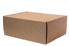 Karton na białym tle 2 Obrazy Stock