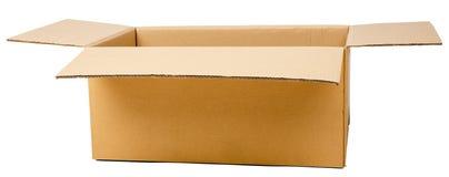 karton otwarte pole Pakować dla transportu Fotografia Stock