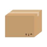 Karton pudełkowata ikona ilustracji