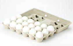 Karton van witte eieren Royalty-vrije Stock Afbeelding