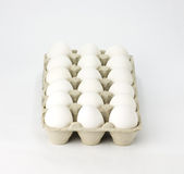 Karton van witte eieren Royalty-vrije Stock Fotografie