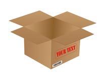 Karton-Verpacken Stockfoto