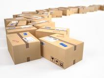 Kartongpackejordlotter Arkivbild
