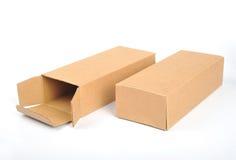 Kartonkasten stockfoto