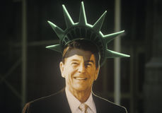 Kartonknipsel van President Ronald Reagan Stock Afbeeldingen