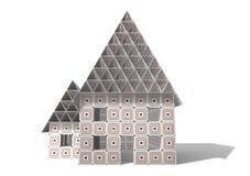 Kartonnen Huis royalty-vrije stock afbeelding