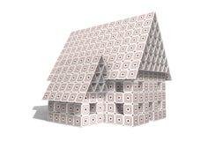 Kartonnen Huis stock afbeelding