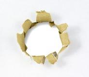 kartonowa dziura Fotografia Stock