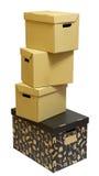 kartonowa pudełko sterta Obraz Royalty Free