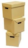 kartonowa pudełko sterta trzy Fotografia Royalty Free