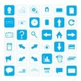 kartonowe koloru ikony ustawiać oznaczają wektor trzy Zdjęcia Stock