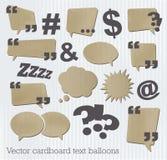 Kartonowi tekstów balony royalty ilustracja