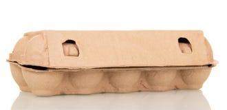 Kartonowi zbiorników jajka odizolowywający na bielu Obraz Royalty Free