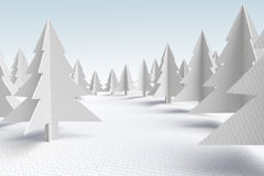 Kartonowy wiecznozielony las ilustracja wektor
