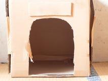 Kartonu dom dla kotów Zdjęcie Royalty Free