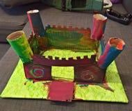 Kartonu kasztel, forteca, cytadela/ zdjęcie royalty free