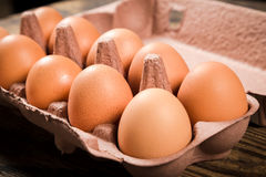 kartonu kurczaka jajek taca Fotografia Royalty Free