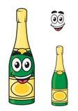 Kartonu szampan lub iskrzastego wina butelka Fotografia Royalty Free
